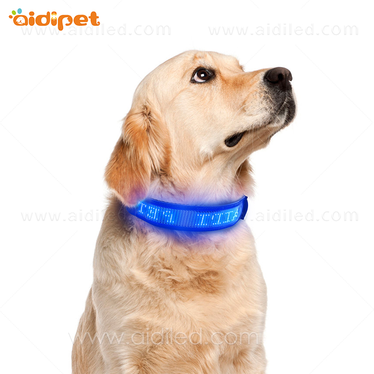 AIDI-Dog Collar Led Flashing Light, Bluetooth Remote Controlled-9