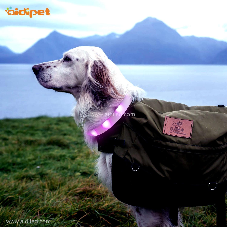 AIDI- Silicone Waterproof Rechargeable Flashing Led Dog Collar | AIDI-1