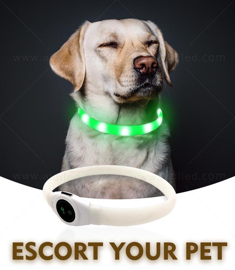 AIDI- Silicone Waterproof Rechargeable Flashing Led Dog Collar | AIDI-2