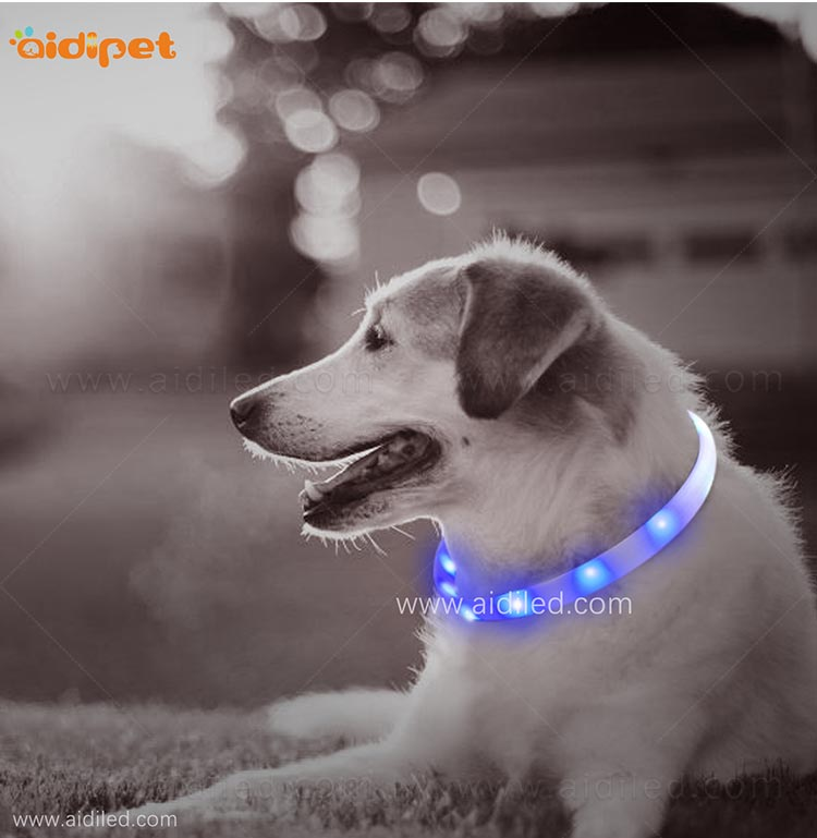 AIDI- Silicone Waterproof Rechargeable Flashing Led Dog Collar | AIDI-9