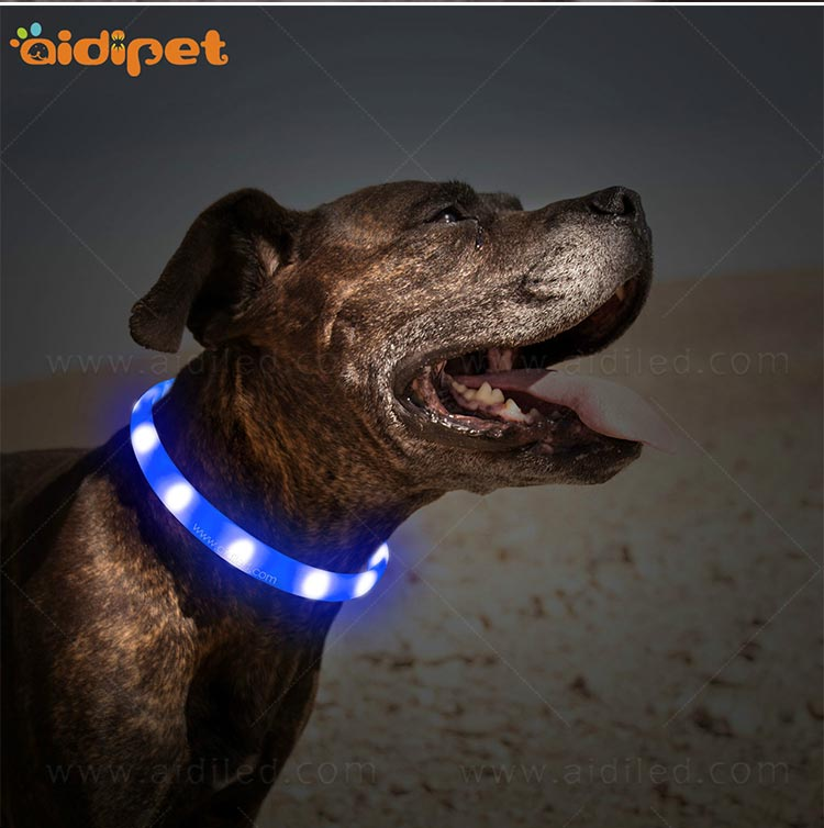 AIDI- Silicone Waterproof Rechargeable Flashing Led Dog Collar | AIDI-11