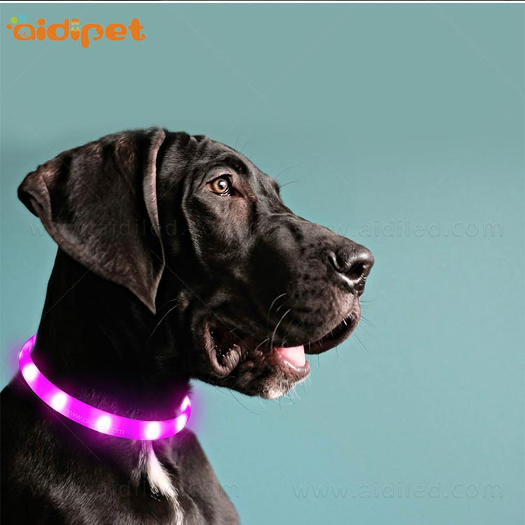 AIDI- Silicone Waterproof Rechargeable Flashing Led Dog Collar | AIDI-10