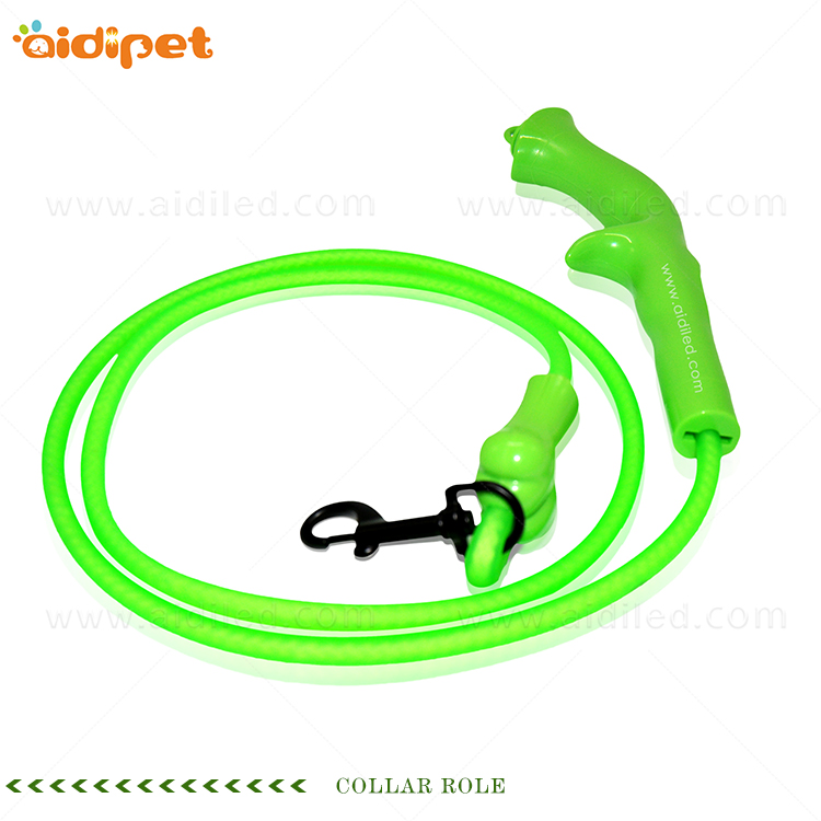 AIDI-Lighted Dog Leash Manufacture | Flat Led Pvc Dot Light Dog Leash-2