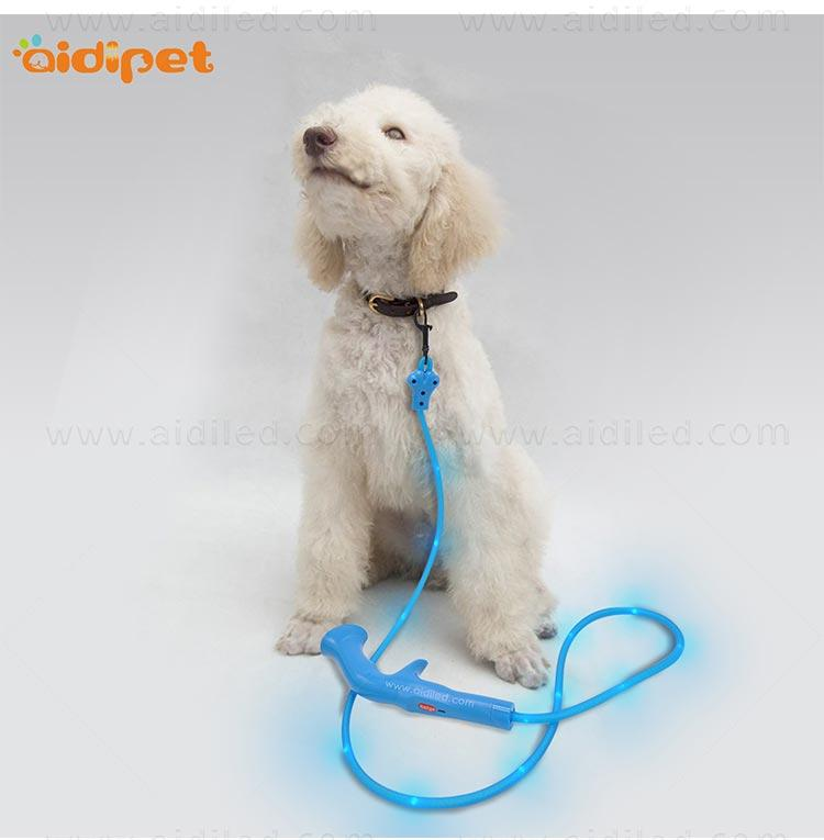 flat light up dog leash with good price for outdoors