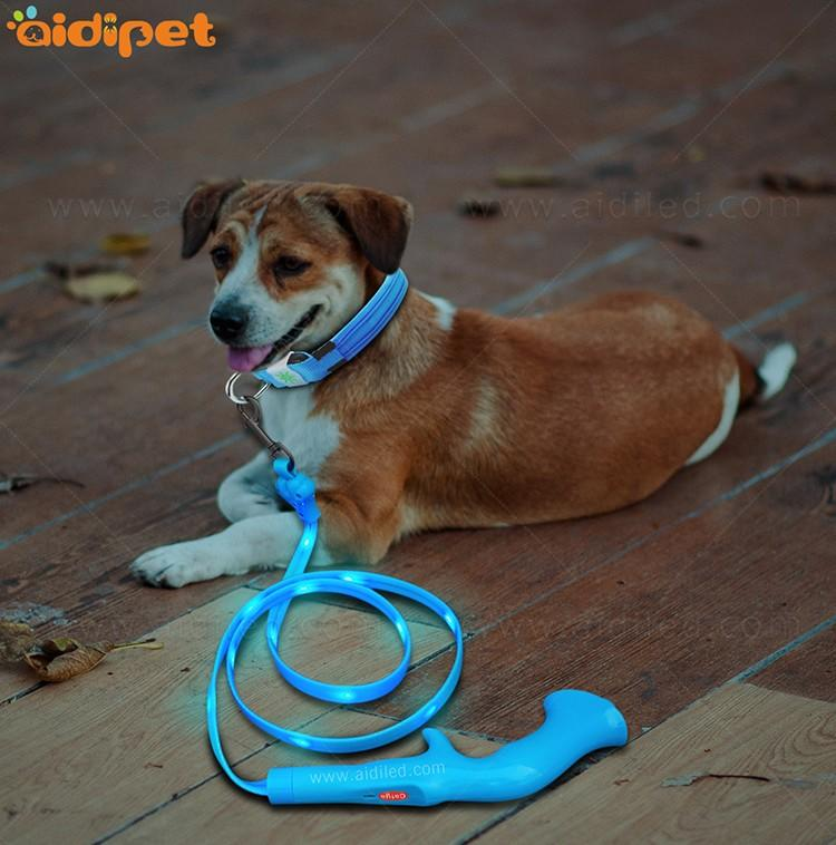 reflective lighted dog leash with good price for outdoors