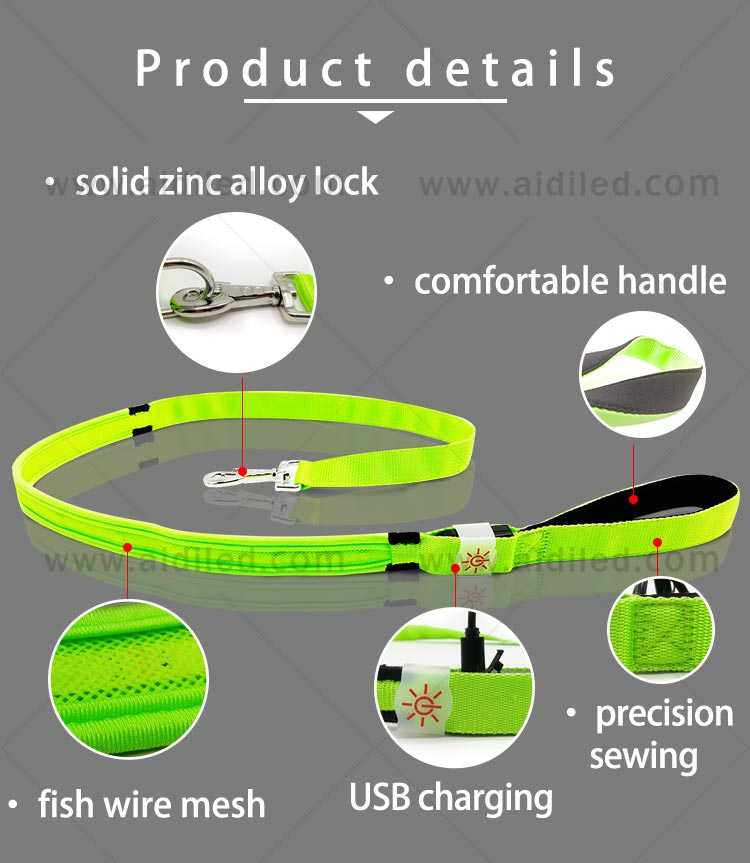 light up dog leash factory for pet-7