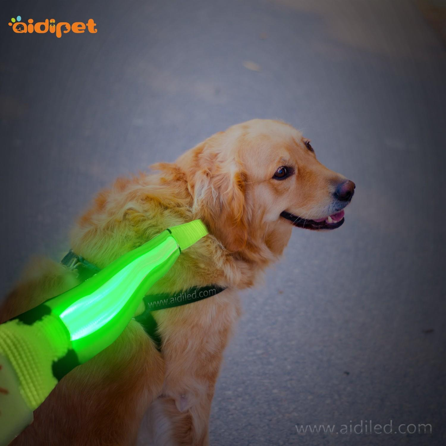 flat glow in the dark dog leash inquire now for pet