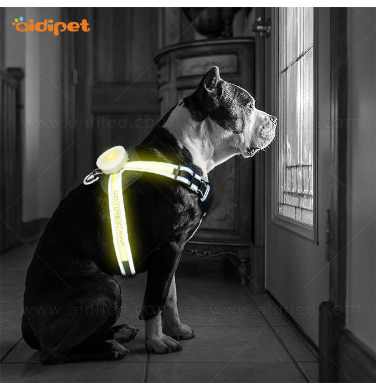 AIDI flashing reflective dog harness manufacturer for outdoors