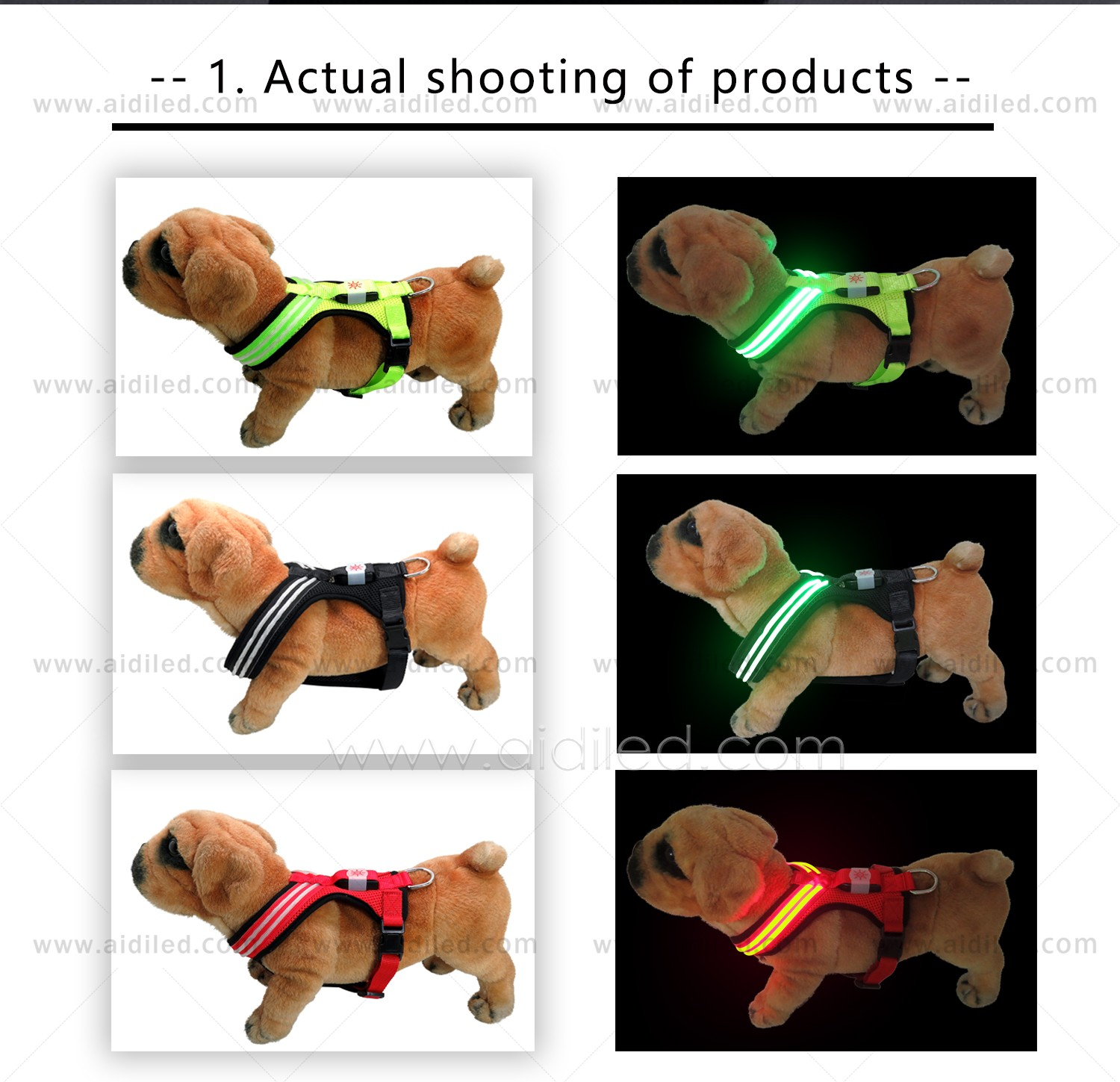 AIDI light up dog harness manufacturer for outdoors-4