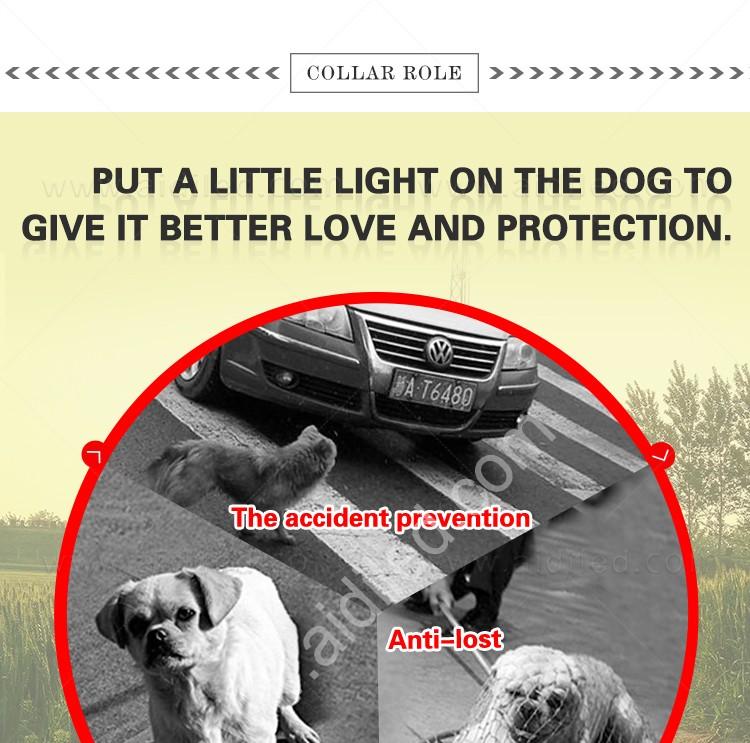AIDI-Led Dog Harness, Reflective Rechargeable Flashing Led Dog Harness-3