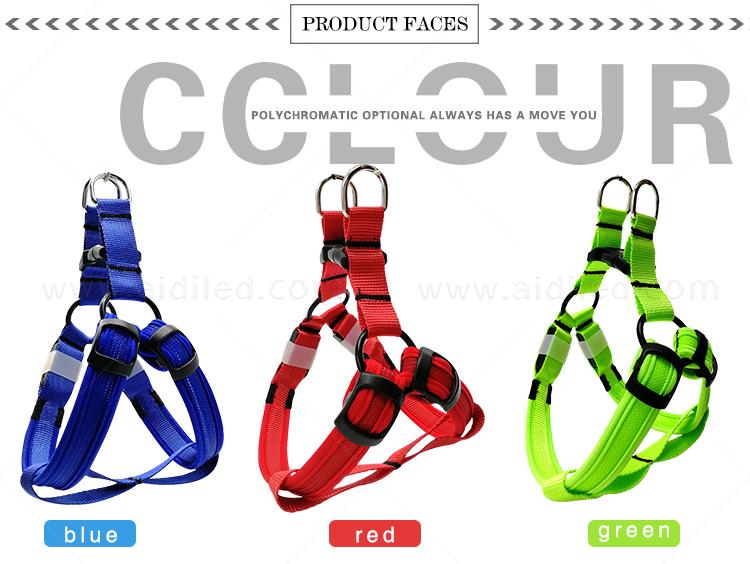 AIDI-Led Dog Harness, Reflective Rechargeable Flashing Led Dog Harness-5