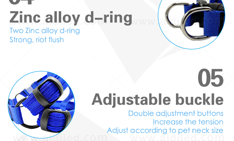 AIDI-Led Dog Harness, Reflective Rechargeable Flashing Led Dog Harness-9