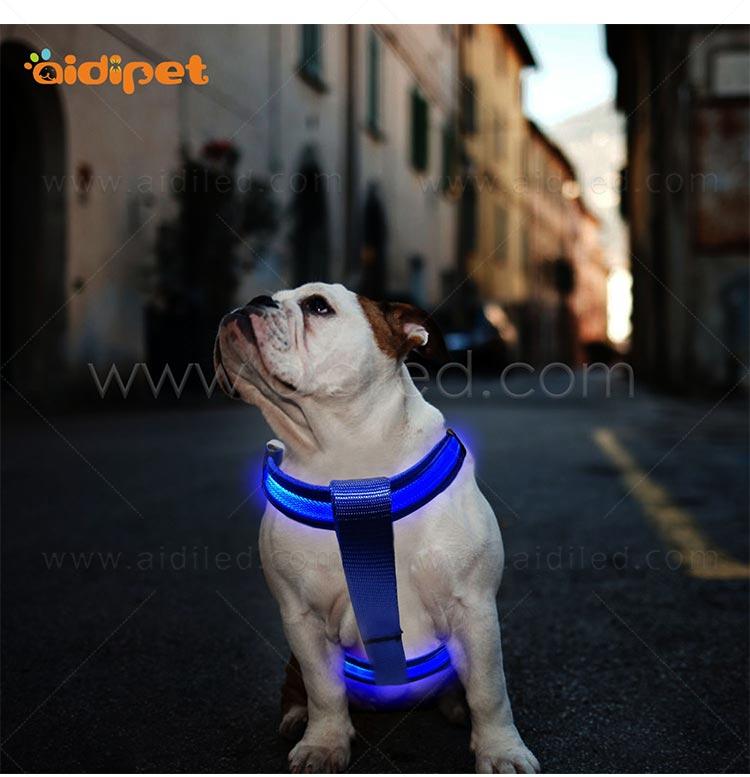 AIDI-Led Dog Harness, Reflective Rechargeable Flashing Led Dog Harness-11