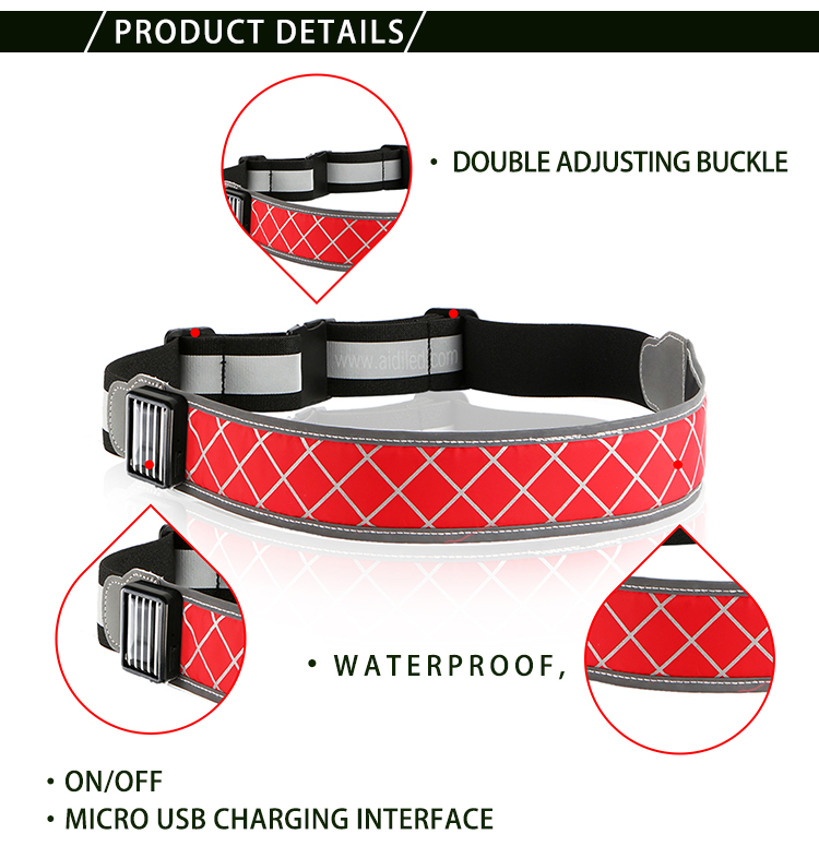 AIDI-Find Led Waist Belt Led Outdoor Sport Waist Belt For Safety-4