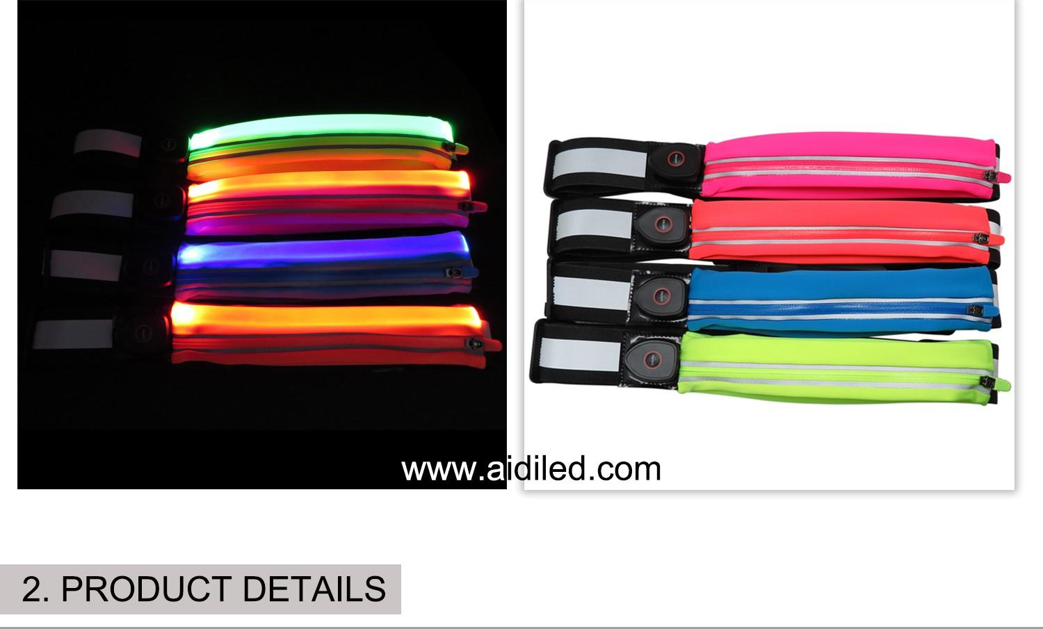 AIDI reflective running waist bag for man