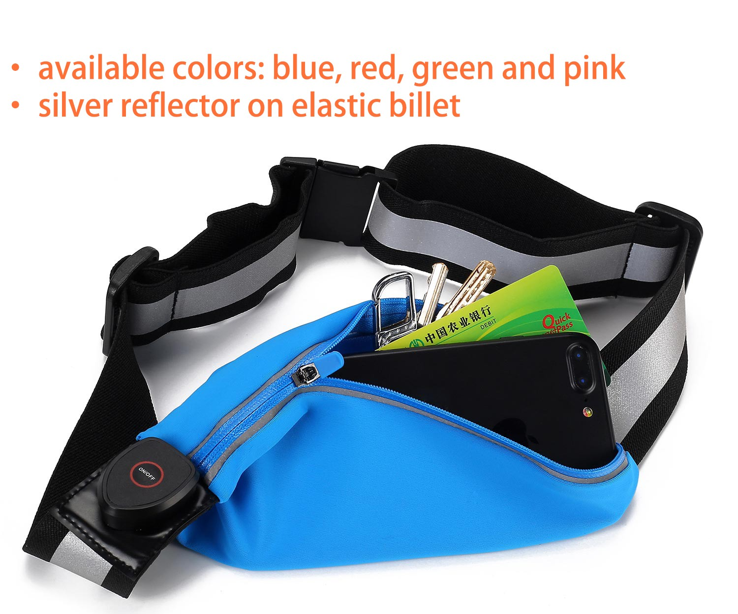 AIDI reflective running waist bag for man-5