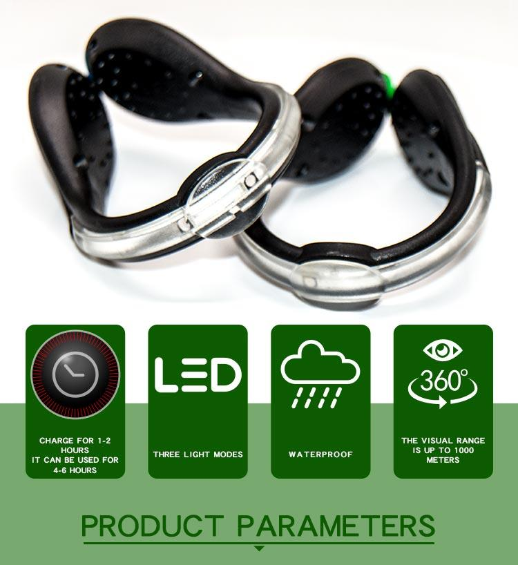Led USB rechargeable clip on shoe light AIDI-S4