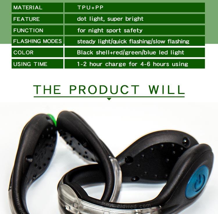AIDI-Clip On Shoe Lights Manufacture   Led Usb Rechargeable Shoe Clip-1