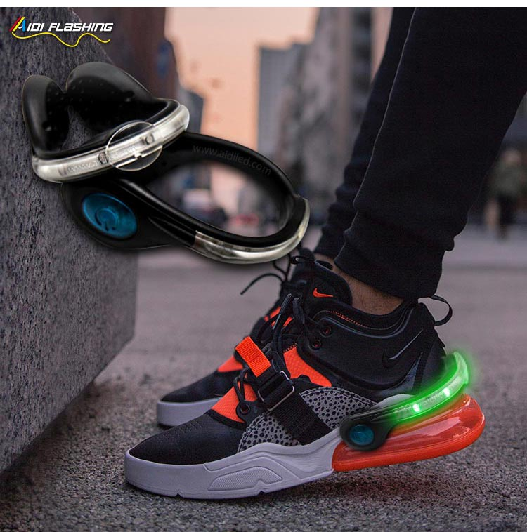 Led USB rechargeable clip on shoe light AIDI-S4-9