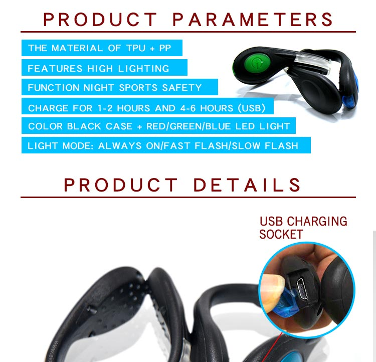 AIDI-Best Night Runner Led Shoe Clip Led Usb Rechargeable Shoe Clip-1