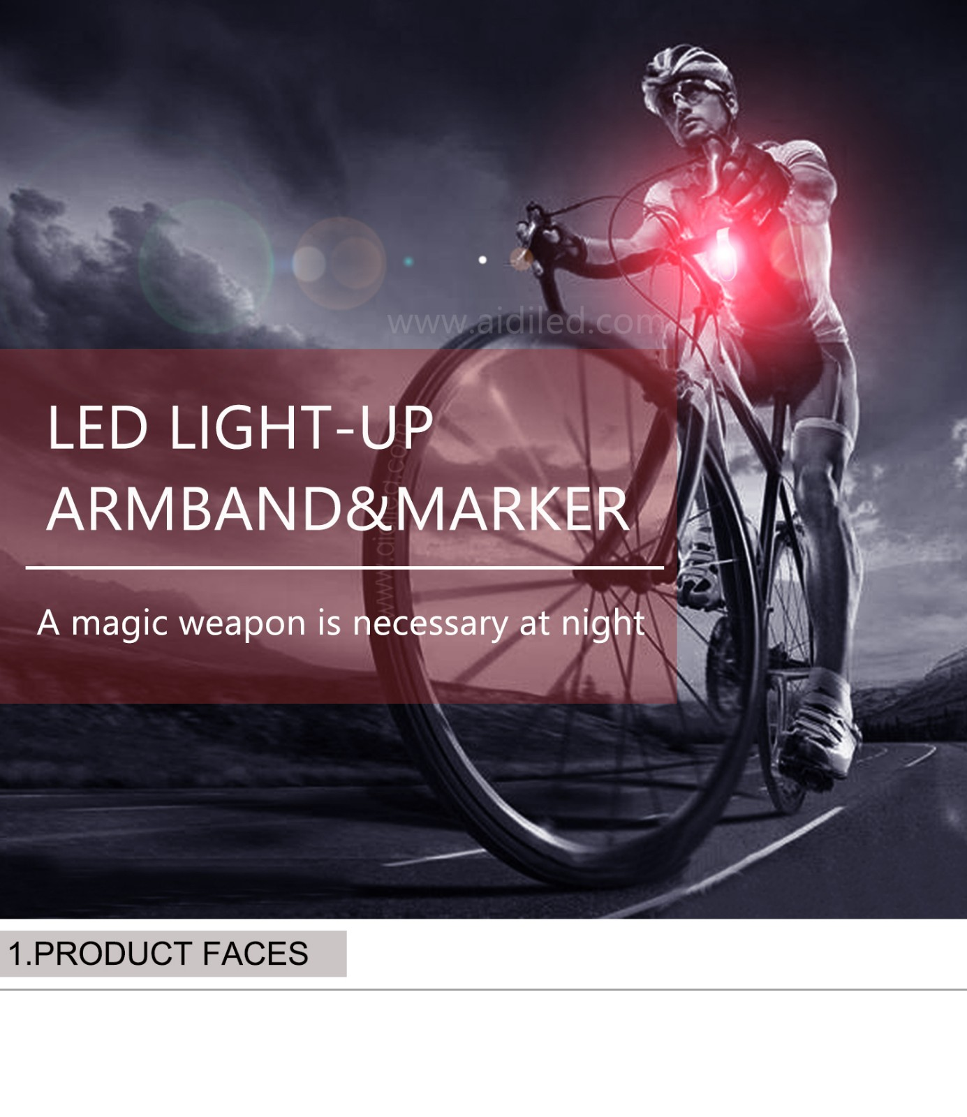 AIDI-Professional Safety Lights For Runners Waterproof USB Rechargeable