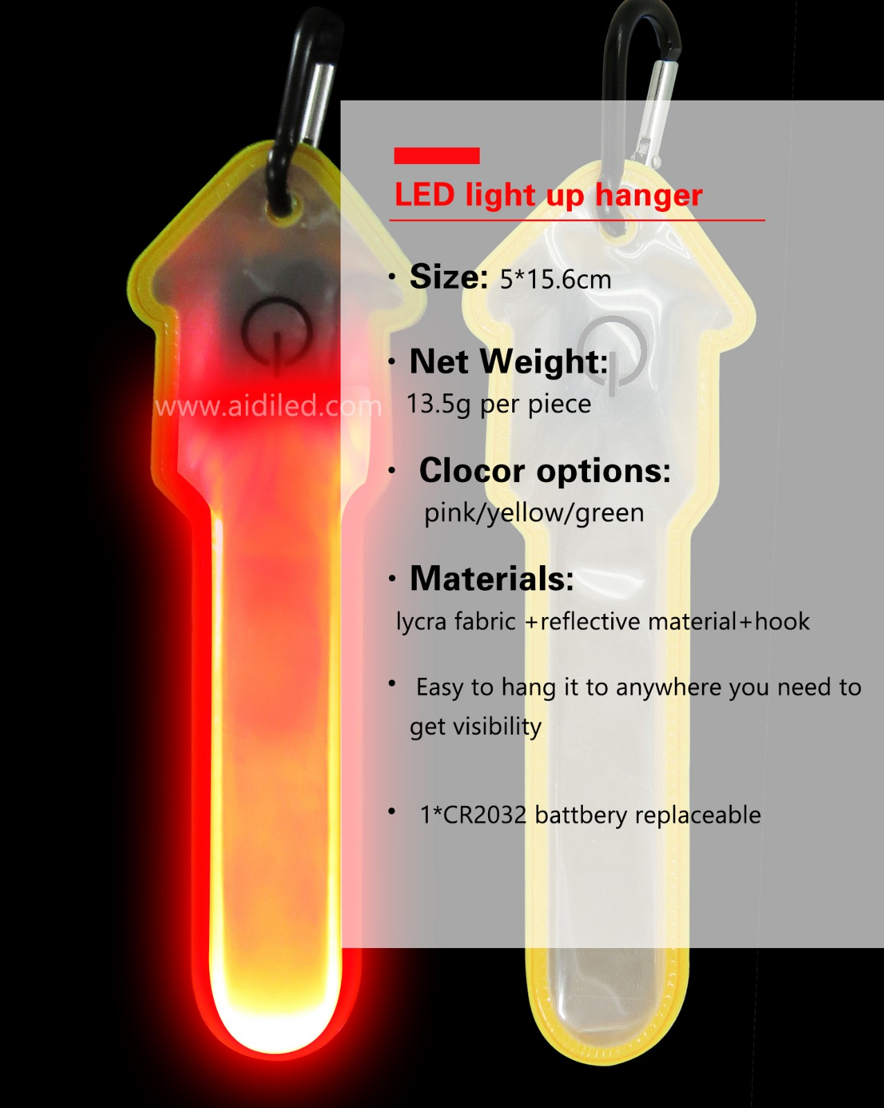 AIDI-Night Running Lights, Outdoor Led Safety Light | AIDI-8