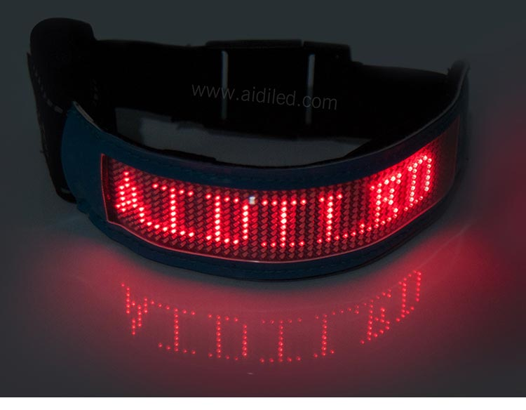 Led Screen Bluetooth Controlled Outdoor Sports Reflective Armbands AIDI-S20-5