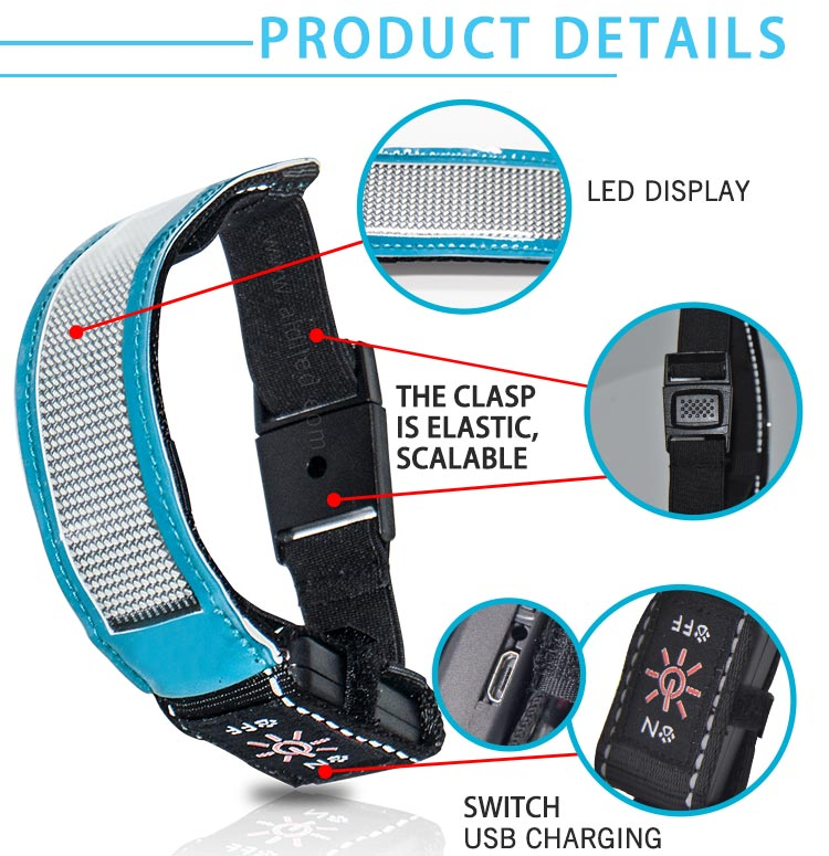 Led Screen Bluetooth Controlled Outdoor Sports Reflective Armbands AIDI-S20-6