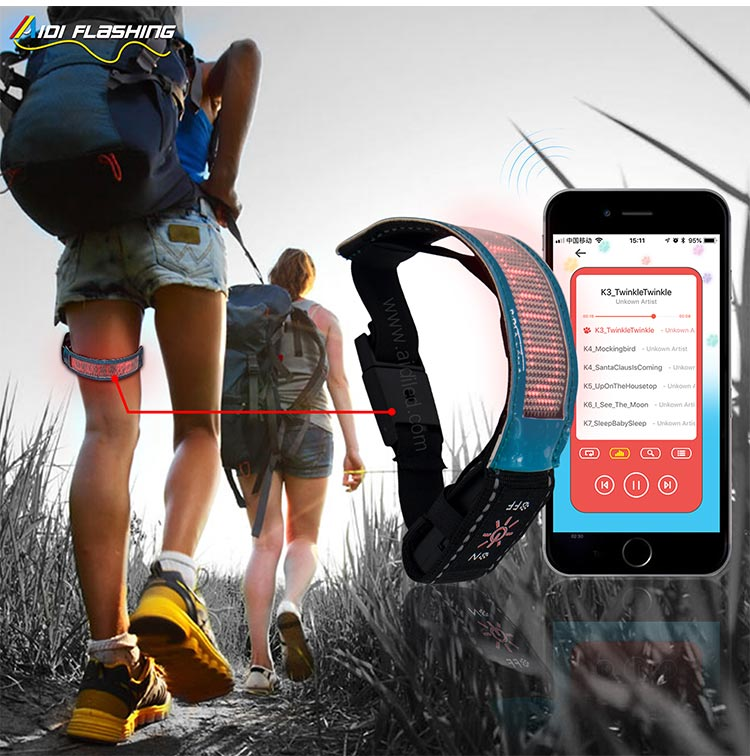 Led Screen Bluetooth Controlled Outdoor Sports Reflective Armbands AIDI-S20-11