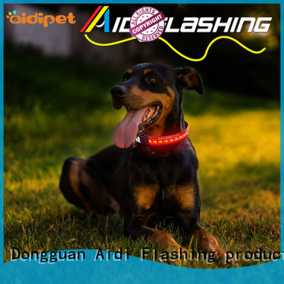 rechargeable luminous flashing dog collars factory for park