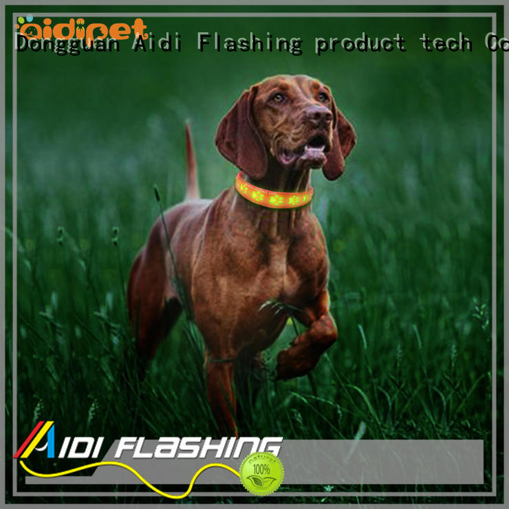 AIDI durable reflective dog collars factory for outdoors