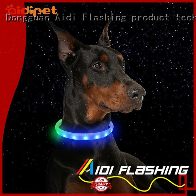 Nylon Fish Filament Rechargeable Led Night Dog Collar