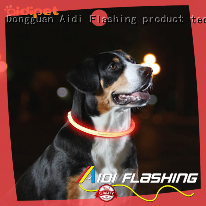 AIDI reflective light up dog collar uk for outdoors