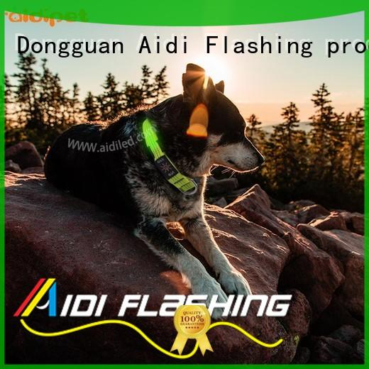 AIDI rechargeable rechargeable lighted dog collars inquire now for park