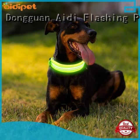 filament rechargeable lighted dog collars factory for outdoors