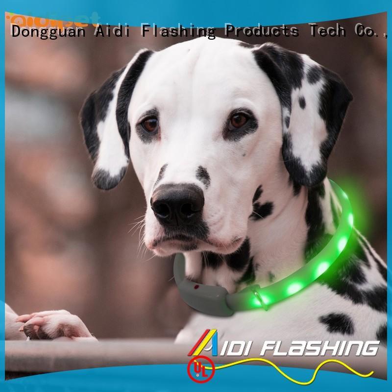 glowing lightning dog collar factory for walking