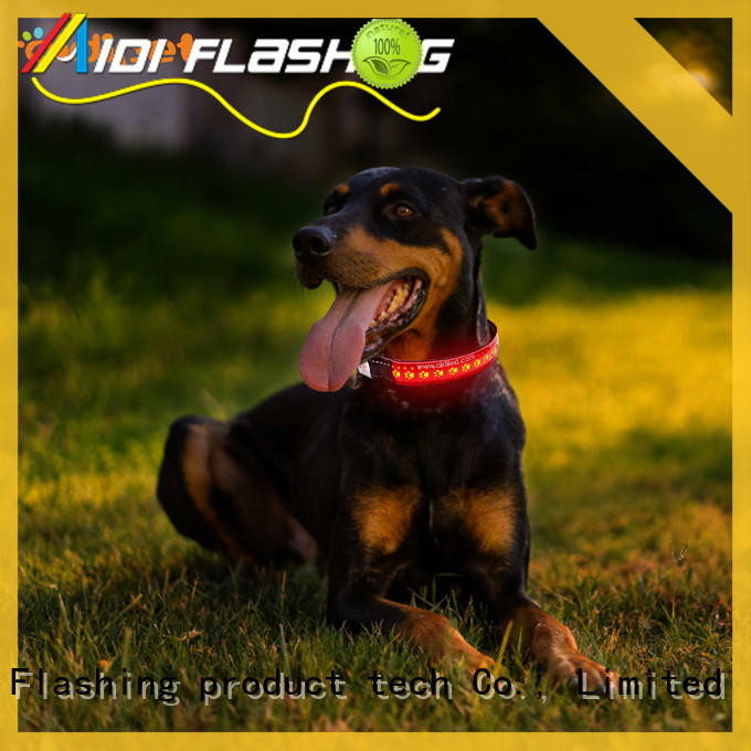 AIDI reflective led dog collar with good price for outdoors