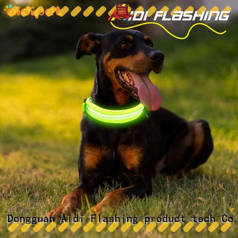 bright dog collar strobe light reflective AIDI