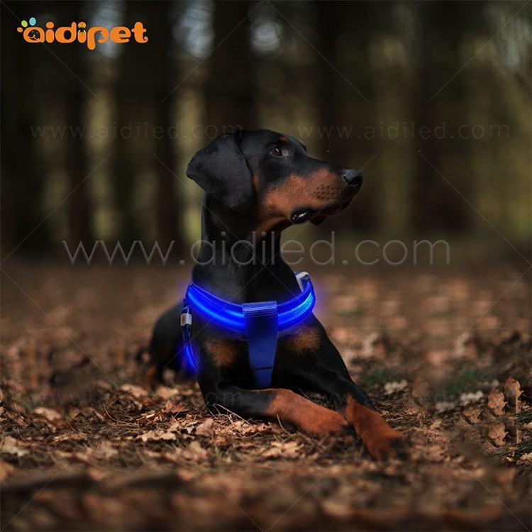 AIDI nylon glow in the dark dog harness for pet-3