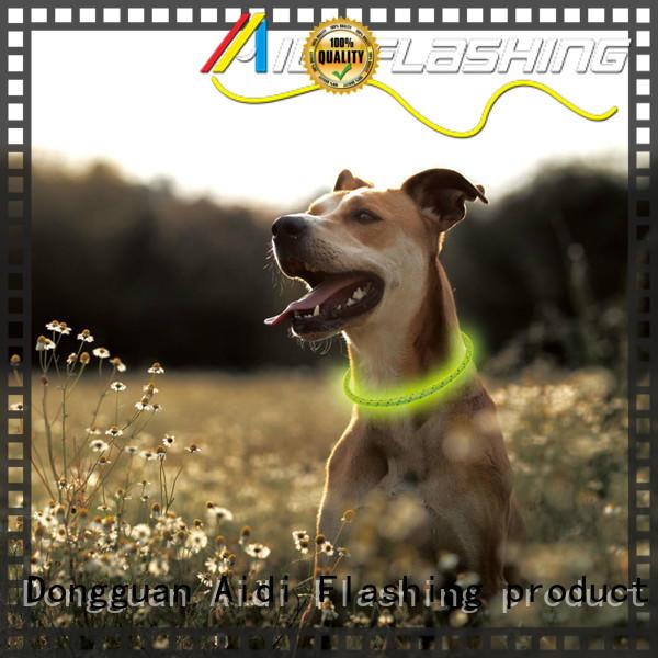 silicone led light up dog collar design for park