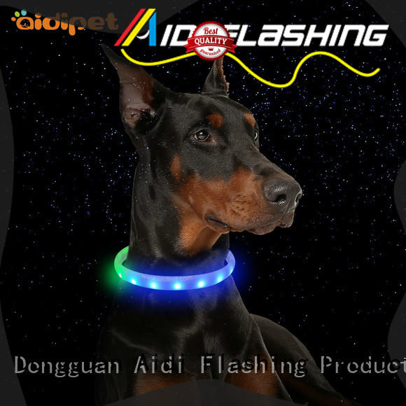 AIDI light up dog collar rechargeable factory for pet