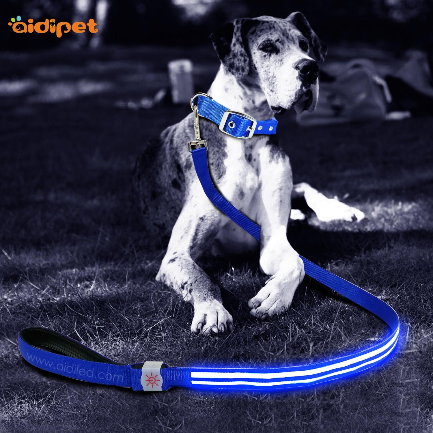 rechargeable light up dog leash with good price for pet-2