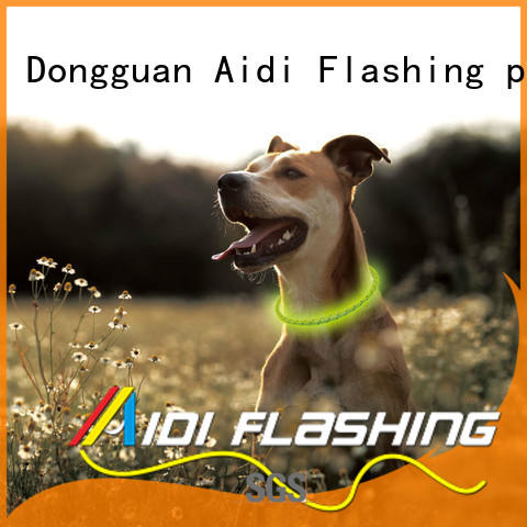 AIDI printing rechargeable dog collar light factory for pet