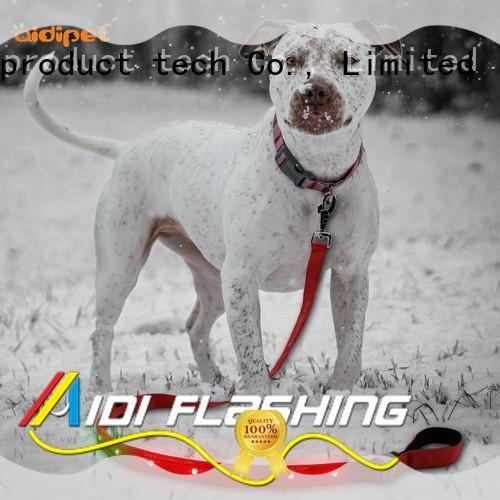 AIDI flat dog leash with flashlight fashlight for park