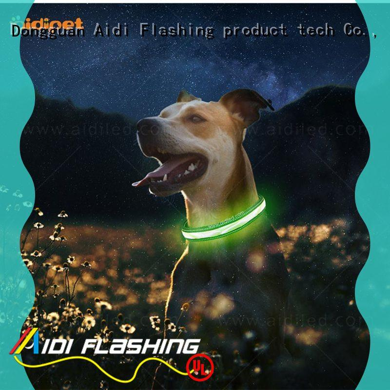 bluetooth lighted dog collars flashing lights lighted for outdoors AIDI