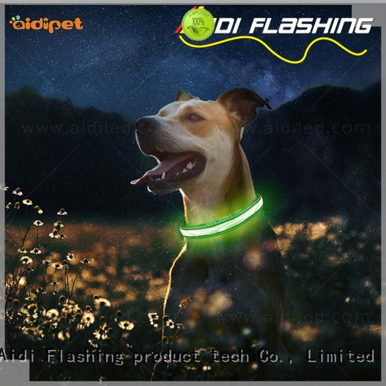 style dog collars that light up in the dark AIDI