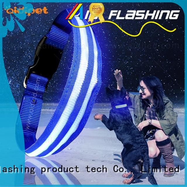 AIDI flashing glowing dog collar inquire now for park