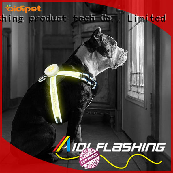 nylon lighted dog harness customized for park