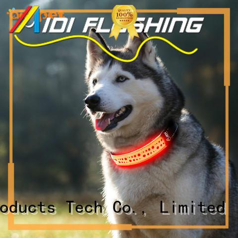 AIDI printing flashing dog collar factory for outdoors