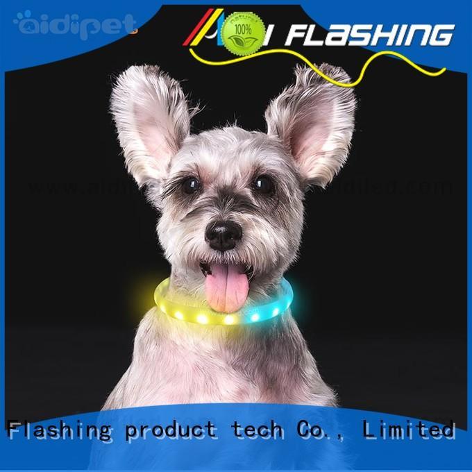 glowing night time dog collars AIDI